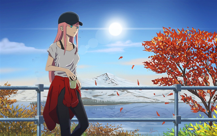 Darling In The Frankxx Zero Two Art Japanese Mountain Landscape Main Character