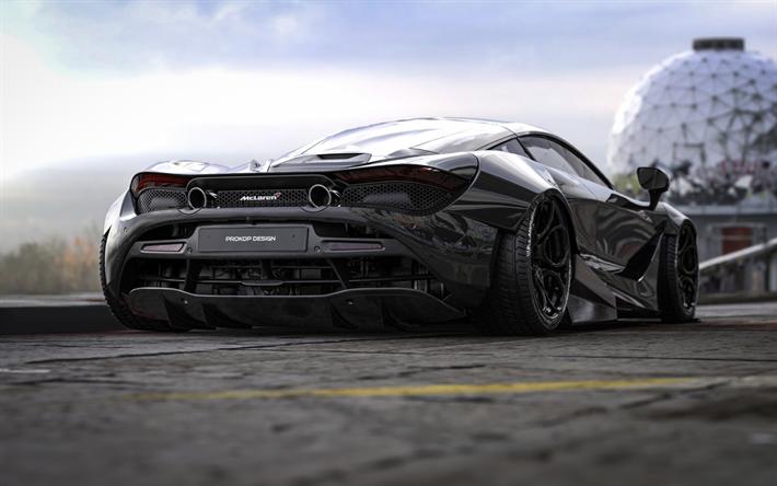 Download Wallpapers Mclaren 720s Tuning Supercars 2018 Cars Black 720s P14 Mclaren For Desktop Free Pictures For Desktop Free