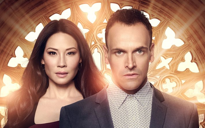 Elementary, 2019, poster, promo material, main characters, Jonny Lee Miller, Lucy Liu, American detective television series