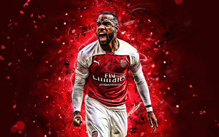 Download Wallpapers Alexandre Lacazette, Goal, Arsenal FC