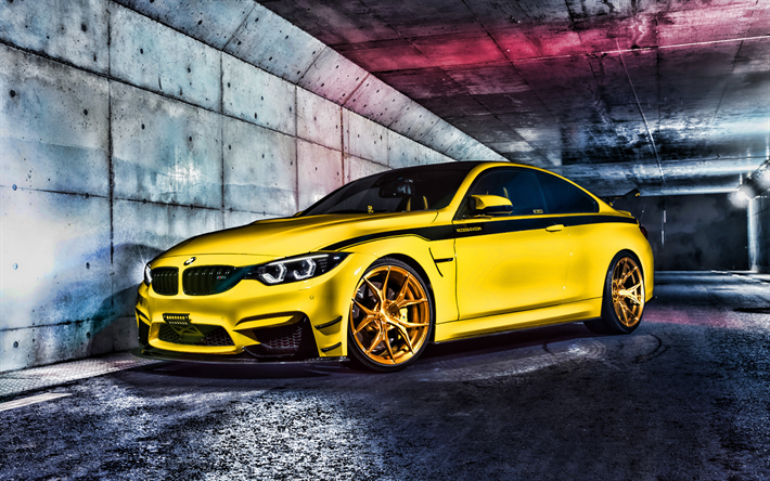 Download Wallpapers Bmw M4 Night F82 2019 Cars Tuning Bmw F82