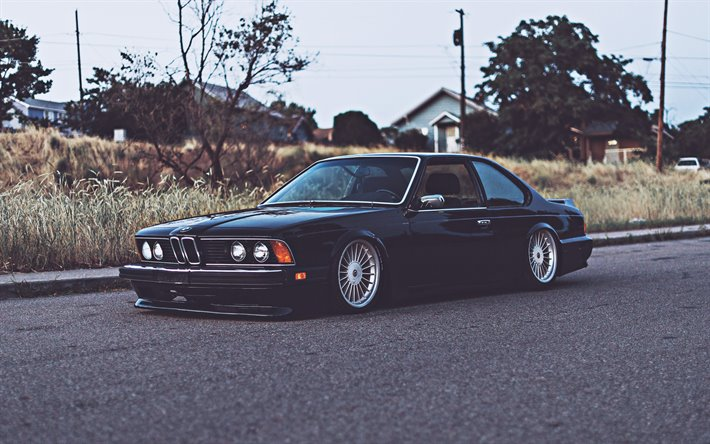 Download wallpapers BMW E24, 4k, retro cars, 1978 cars, BMW 635 ...