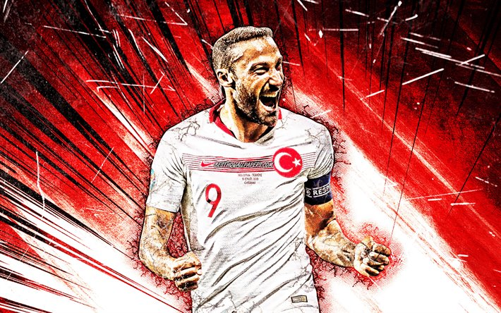 Download Wallpapers Cenk Tosun, Turkey National Team