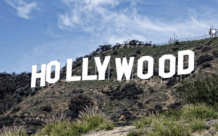 Segno di Hollywood, Los Angeles, California, Hollywood, montagna, Los Angeles punto di riferimento