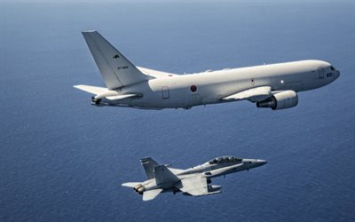 Boeing KC-767, Military aircraft refueling, aerial refueling transport aircraft, Italian Air Force Japan Air Self-Defense Force, JASDF, Japanese Air Force, japanese military plane, Boeing