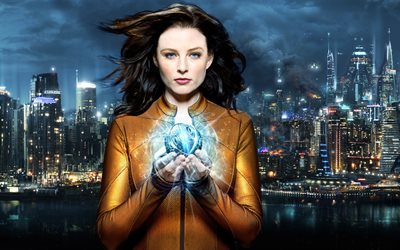 Rachel Nichols, Continuum, Canadian TV series, protagonist, promotional materials, poster