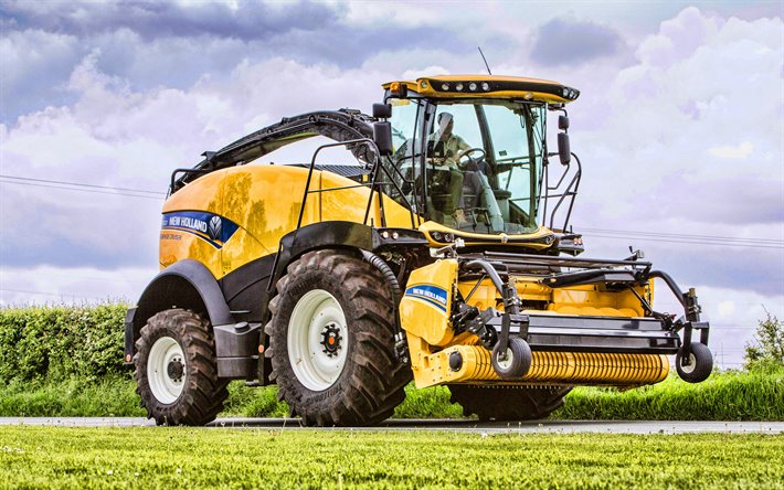 A New Holland FR550 Forragem Cruiser, 4k, colhedora, 2020 combina, a colheita conceitos, A New Holland