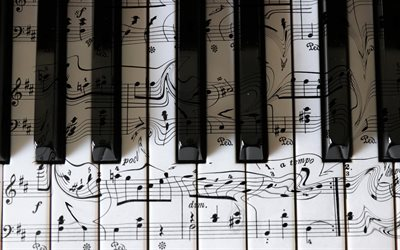 piano keys, musical notes, piano concepts, piano playing, musical instruments