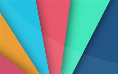 abstract daylight, 4k, material design, colorful rays, geometric shapes, lines, geometry, strips, abstract art, colorful backgrounds