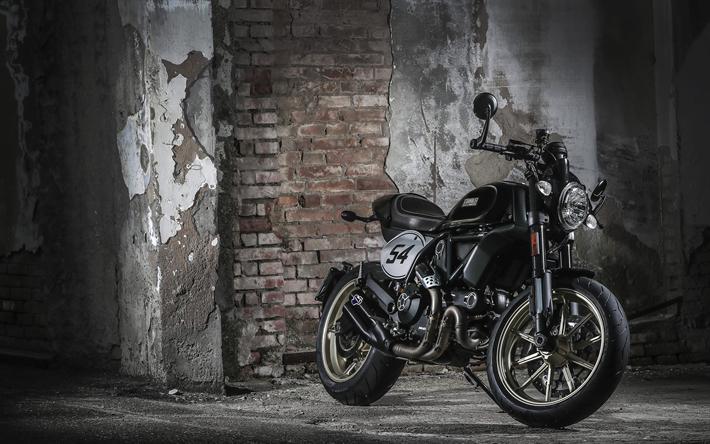 Download Wallpapers 4k, Ducati Scrambler, 2017 Bikes, New