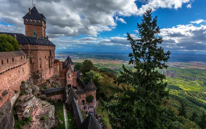 Scarica sfondi castello di haut koenigsbourg francese for Disegni di casa chateau francese
