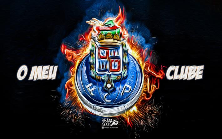 Scarica Sfondi Porto FC, Fan Art, Logo, Primeira Liga