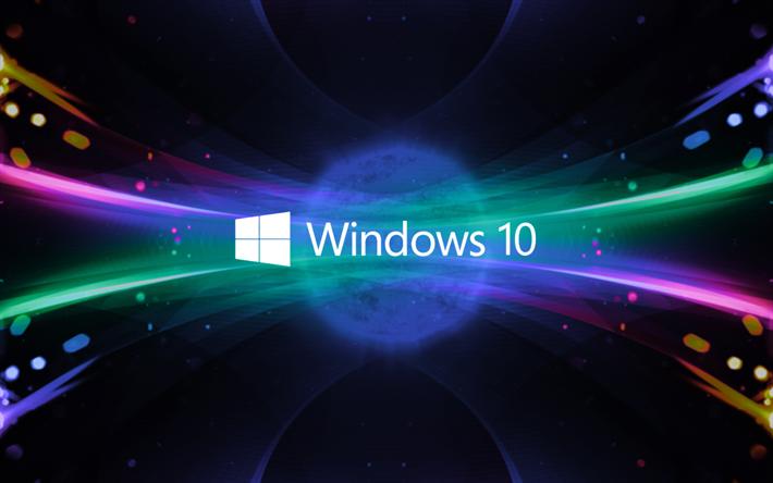 Download Wallpapers Windows 10 Abstract Art Logo Creative