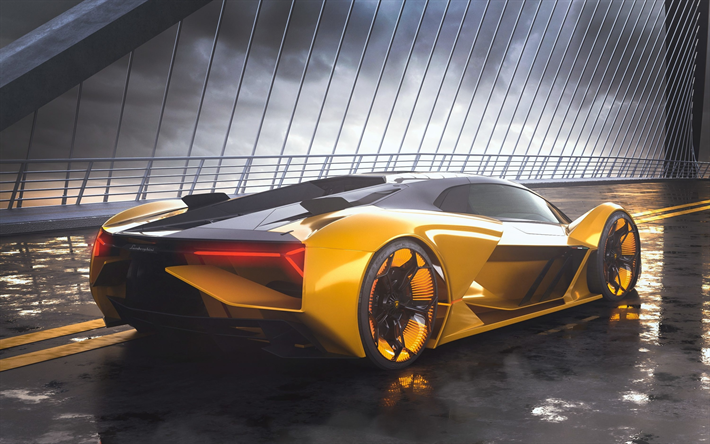 Download Wallpapers Lamborghini Terzo Millennio Back View 2019