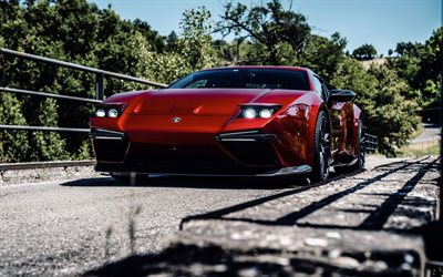 Panther ProgettoUno, Ares Design, 2020, Panther Project 1, Lamborghini Huracan, front view, red sports coupe, tuning Huracan, supercars, Lamborghini