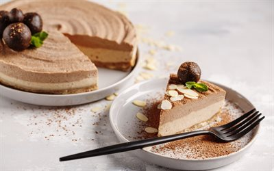 nut cheesecake, sweets, cake, cheesecake, chocolate cheesecake