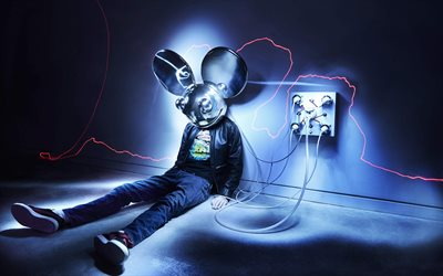 Deadmau5, 4k, DJ, Joel Thomas Zimmerman, art, DJs, DJ Deadmau5