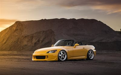 4k, Honda S2000, cabriolets, stance, supercars, tuning, Honda, japanese cars, S2000
