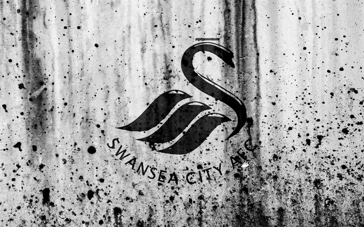 FC Swansea City 4k Premier League Logo England Soccer Football