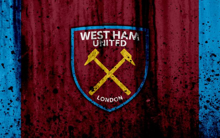 Download Wallpapers FC West Ham United, 4k, Premier League