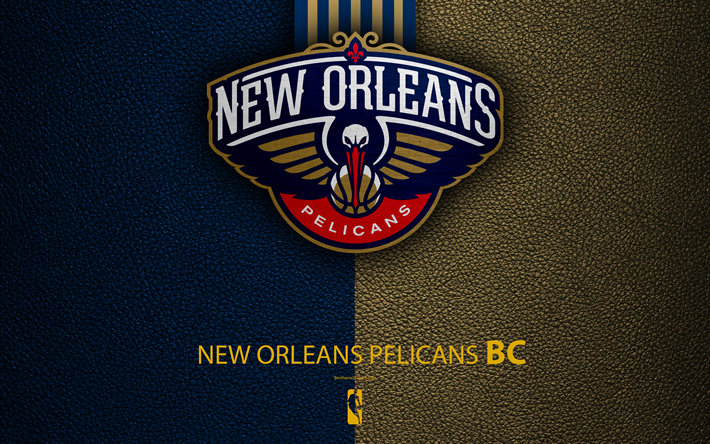 Download Wallpapers New Orleans Pelicans 4k Logo