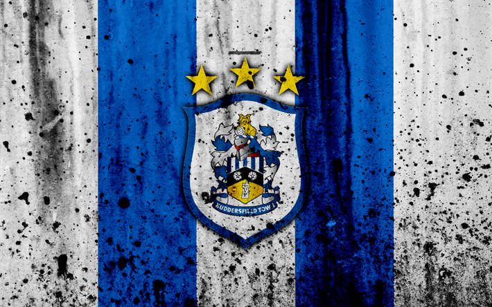 Download Wallpapers FC Huddersfield Town, 4k, Premier