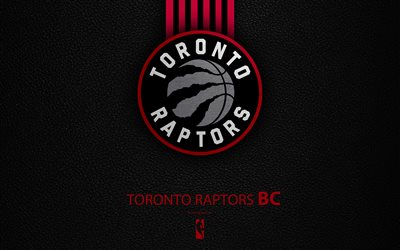 Toronto Raptors, 4K, logo, basketball club, NBA, basketball, emblem, leather texture, National Basketball Association, Toronto, Canada, USA, Atlantic Division, Eastern Conference