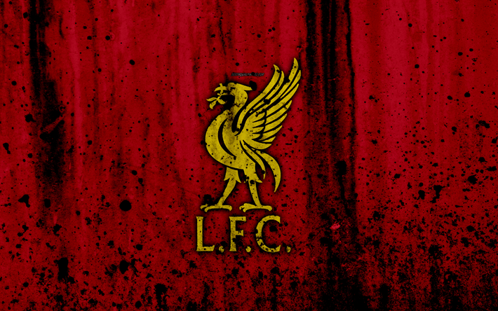 Download Wallpapers FC Liverpool, 4k, New Logo, Premier