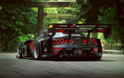 Mazda RX-7, supercars, MazdaSpeed, japanese cars, tuning, RX7, stance, Mazda