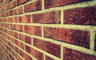 brick, brown brick, brick wall
