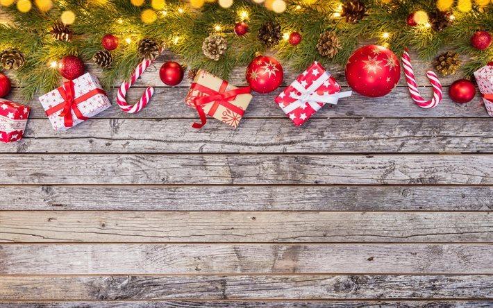 Fondos De Pantalla Fondo De Tablero De Madera De Colores: Descargar Fondos De Pantalla Feliz Navidad, Bolas De