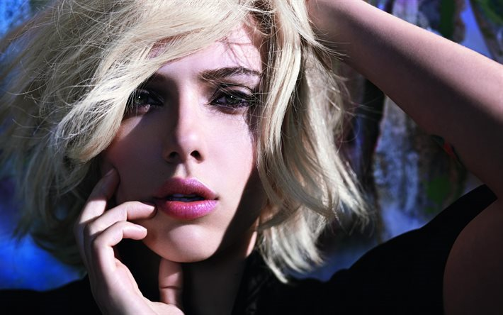 T l charger fonds d 39 cran scarlett johansson portrait blonde yeux bleus actrice am ricaine - Actrice yeux bleus ...