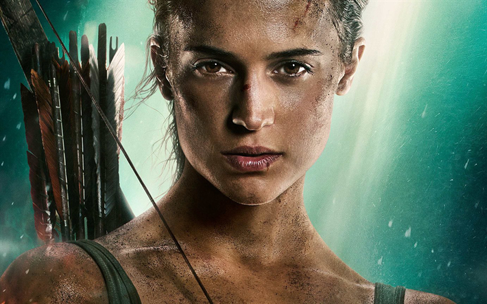 Download Wallpapers Lara Croft Tomb Raider Poster 2018 Movie