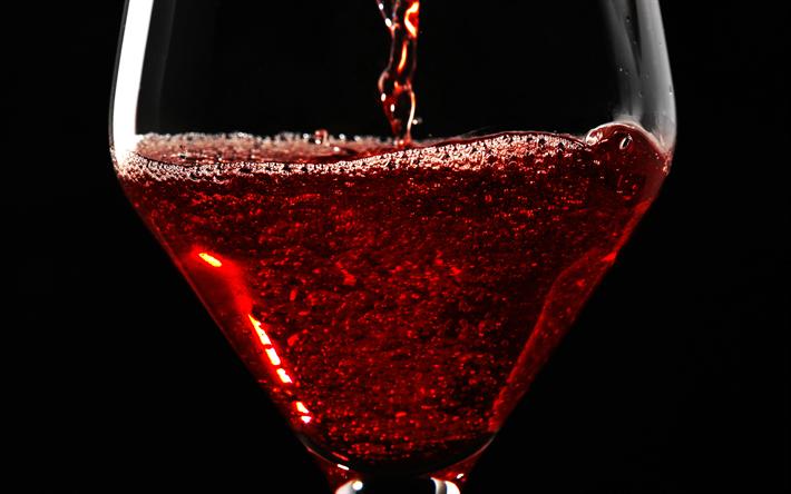 Scarica Sfondi Rosso Vino Bibite Calice Di Vetro 4k Vino