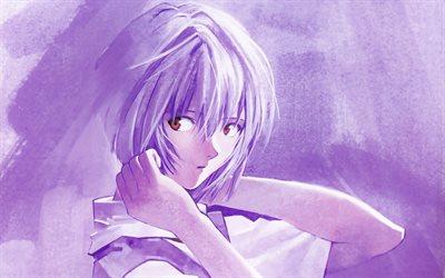 Download Wallpapers Rei Ayanami 4k Manga Art Neon Genesis Evangelion For Desktop Free Pictures For Desktop Free