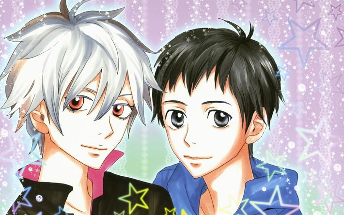 Download Wallpapers Shinji Ikari Kaworu Nagisa Evangelion 4k Manga Neon Genesis Evangelion For Desktop Free Pictures For Desktop Free