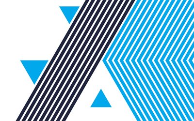 blue lines background, retro backgrounds, blue abstraction, blue geometric background, blue triangles