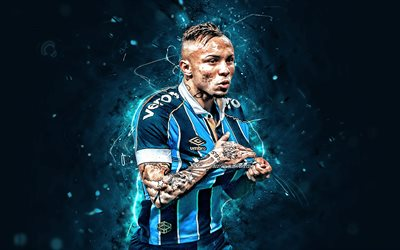 Download Wallpapers Everton 2019 Gremio Fc Brazilian Footballers Soccer Brazilian Serie A Everton Sousa Soares Everton Gremio Neon Lights Brazil Everton Soares For Desktop Free Pictures For Desktop Free