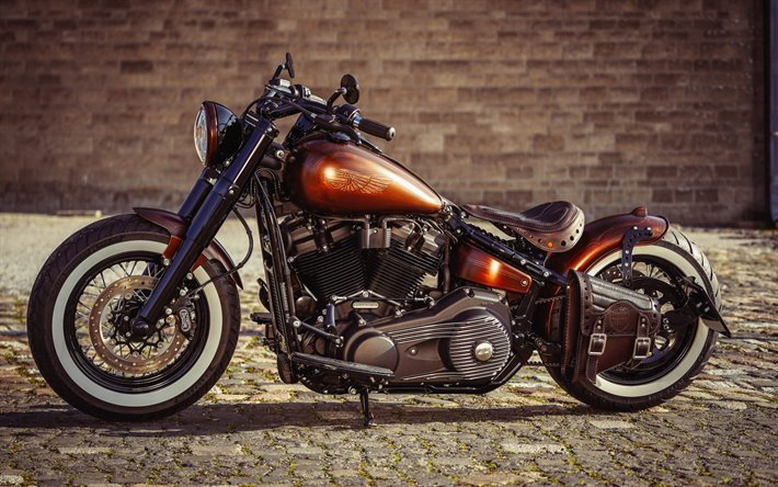 Download Wallpapers Thunderbike Copper Penny Bobber Custom