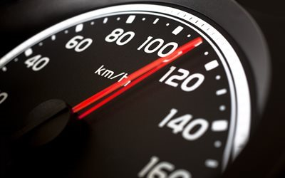 speedometer, arrow, speed, 110 kilometers per hour