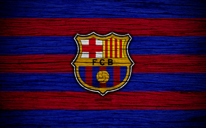 Download Wallpapers FC Barcelona, 4k, Spain, LaLiga