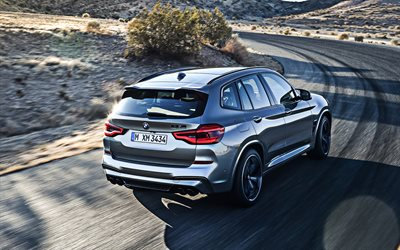 2020, BMW X3, M Competition, X3M, rear view, exterior, new gray X3, crossovers, german cars, BMW