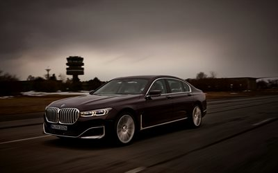 BMW 7, 2019, G12, 7-series, luxury sedan, front view, exterior, german cars, BMW