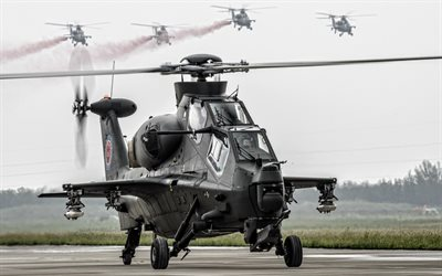 CAIC WZ-10, attack helicopter, Chinese combat helicopter, Chinese Air Force, military helicopters