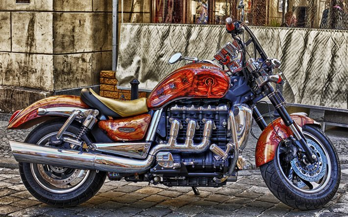 Triumph Rocket III Roadster, customizing, tuning, superbikes, HDR, Triumph