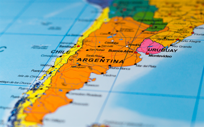 Download wallpapers Map of Argentina administrative map macro