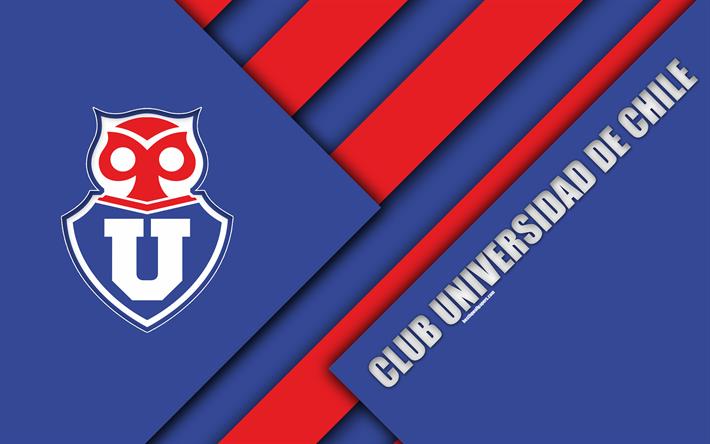 Club Universidad De Chile K Chilean Football Club Material Design Blue Red