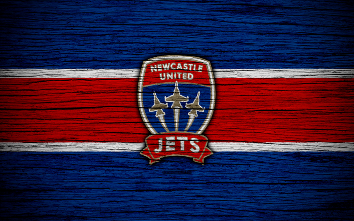 Newcastle Jets: Download Wallpapers Newcastle Jets FC, 4k, Soccer, A