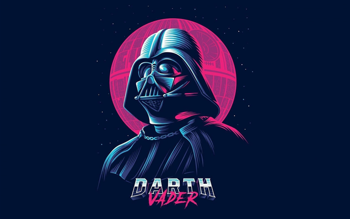 Download wallpapers Darth Vader, Star Wars, art, characters