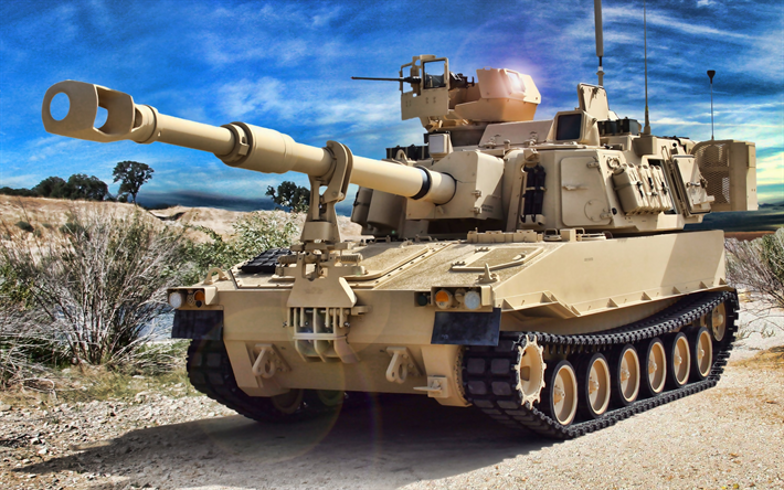 M109 howitzer, 155mm Self-Propelled Howitzer, M109A6, US military equipment, US Army
